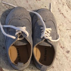 Boys old navy dress shoes size toddler 6 grey